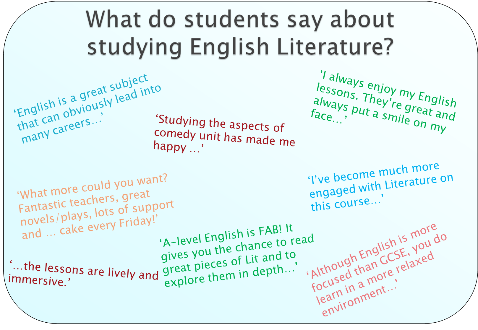 English - A level English comments