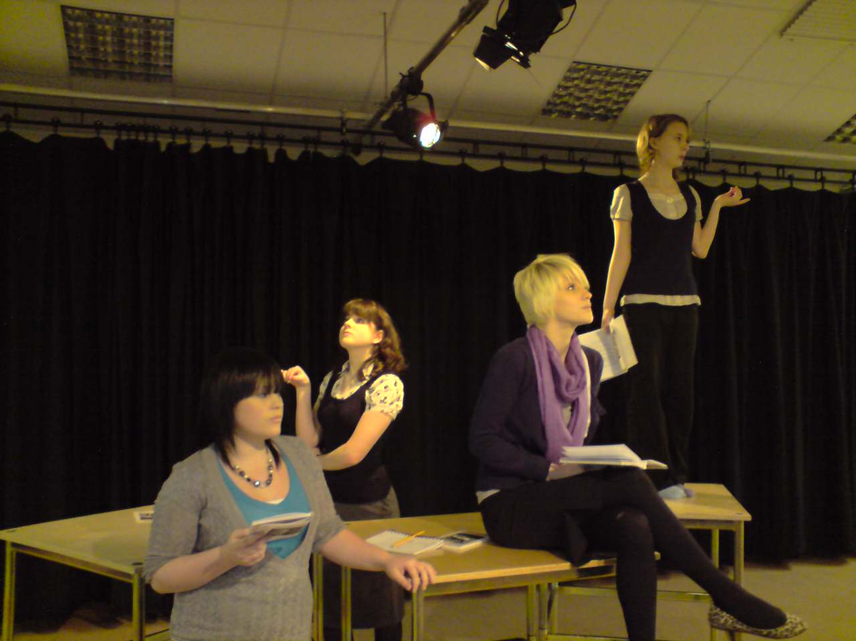 Drama - AS / A2 pupils in rehearsal