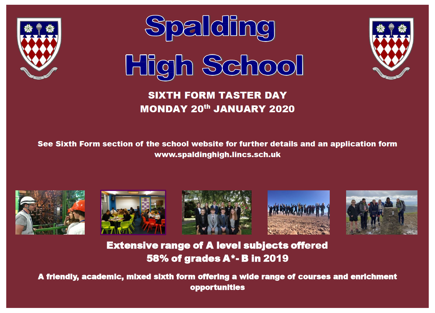 Sixth Form - Sixth Form Taster Day Advert