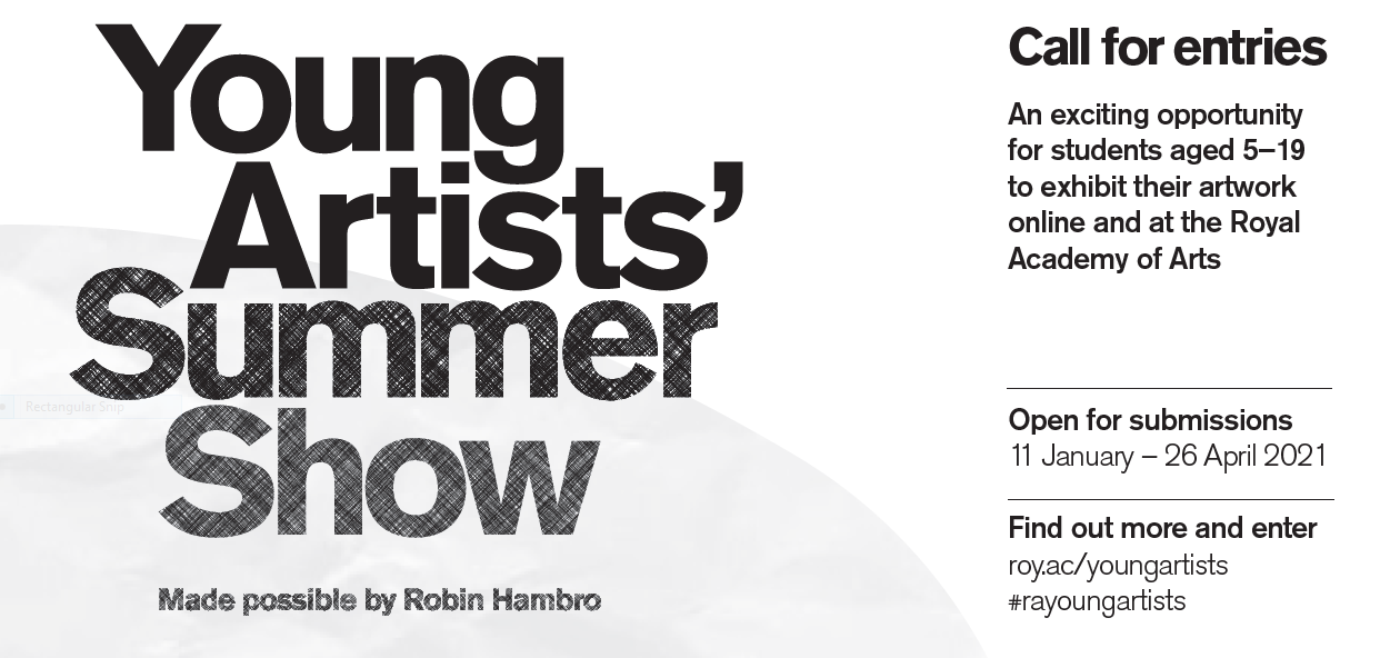 User Admin - Young Artists Summer Show Poster